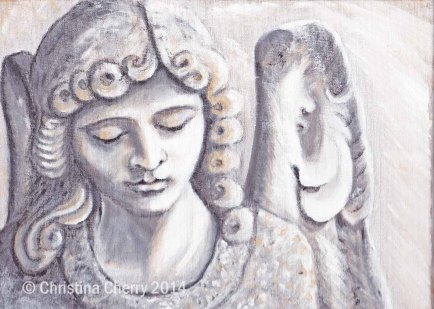 Angel statue 23 x 30cm watermarked