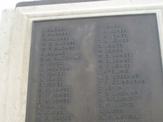 Robert's name on War Memorial